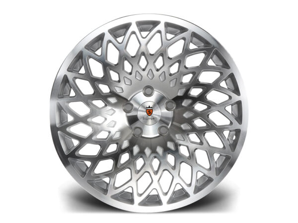 "18"" STUTTGART STX Directional Wheels - Silver Polished - VW / Audi / Mercedes - 5x112"