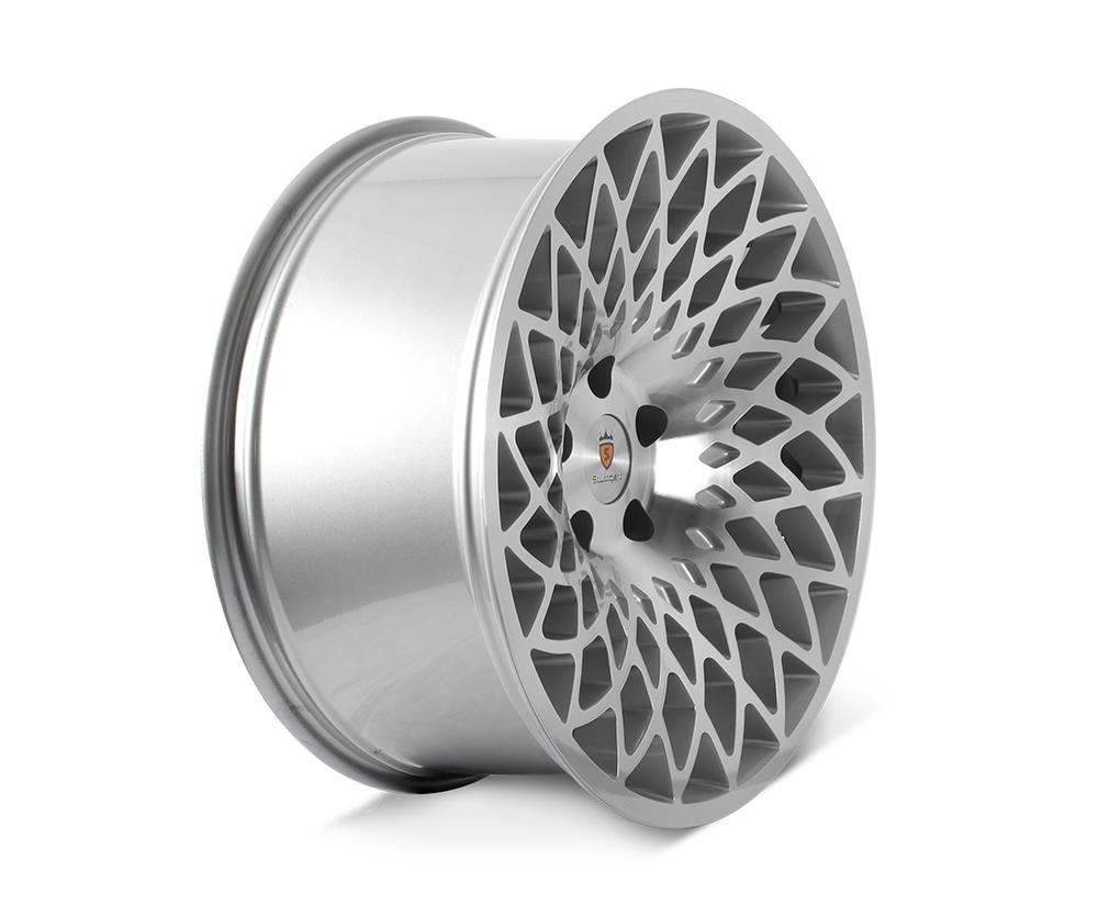 "18"" STUTTGART STX Directional Wheels - Silver Polished - VW / Audi / Mercedes - 5x112"