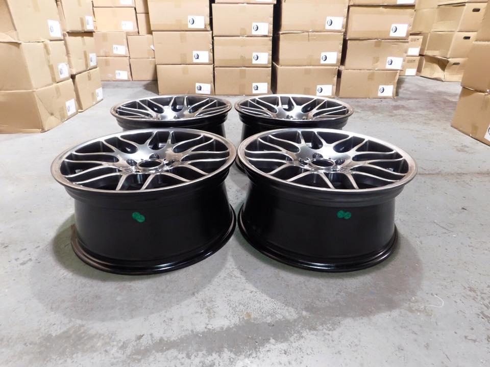 """19"""" Staggered CSL Style Wheels - Hyper Black - E90 / E91 / E92 / E93 / E46 M3"""