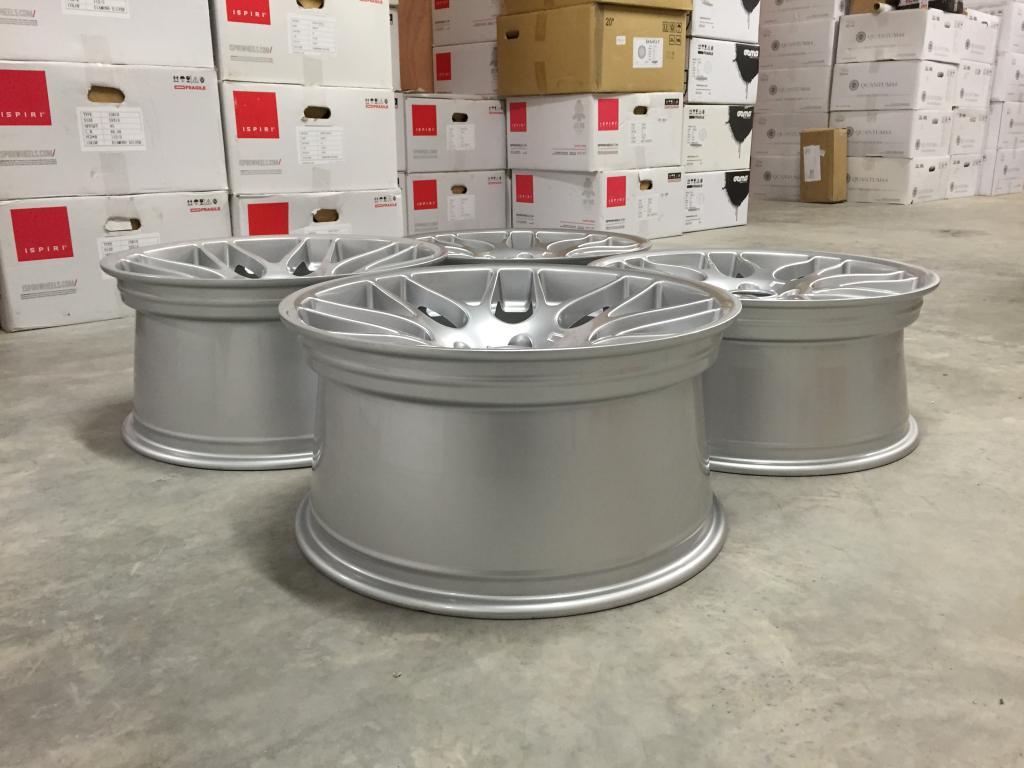 """19"""" Staggered CSL Style Wheels - Hyper Silver - E90 / E91 / E92 / E93 / E46 M3"""