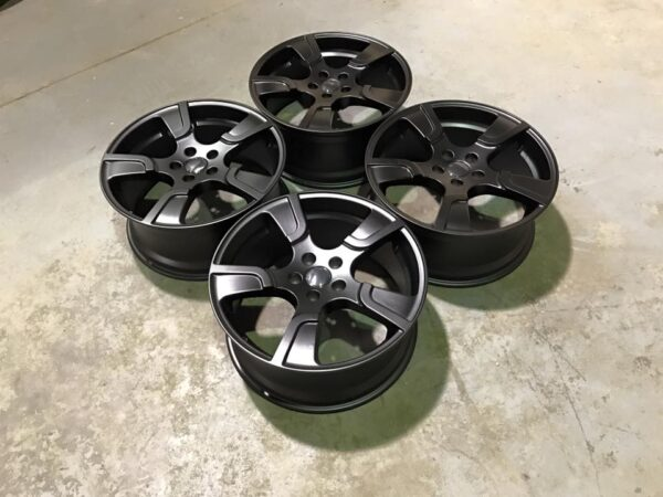 "20"" VW Transporter T5 T6 Sportline Style Alloy Wheels - Satin Black - 950kg Load Rated"