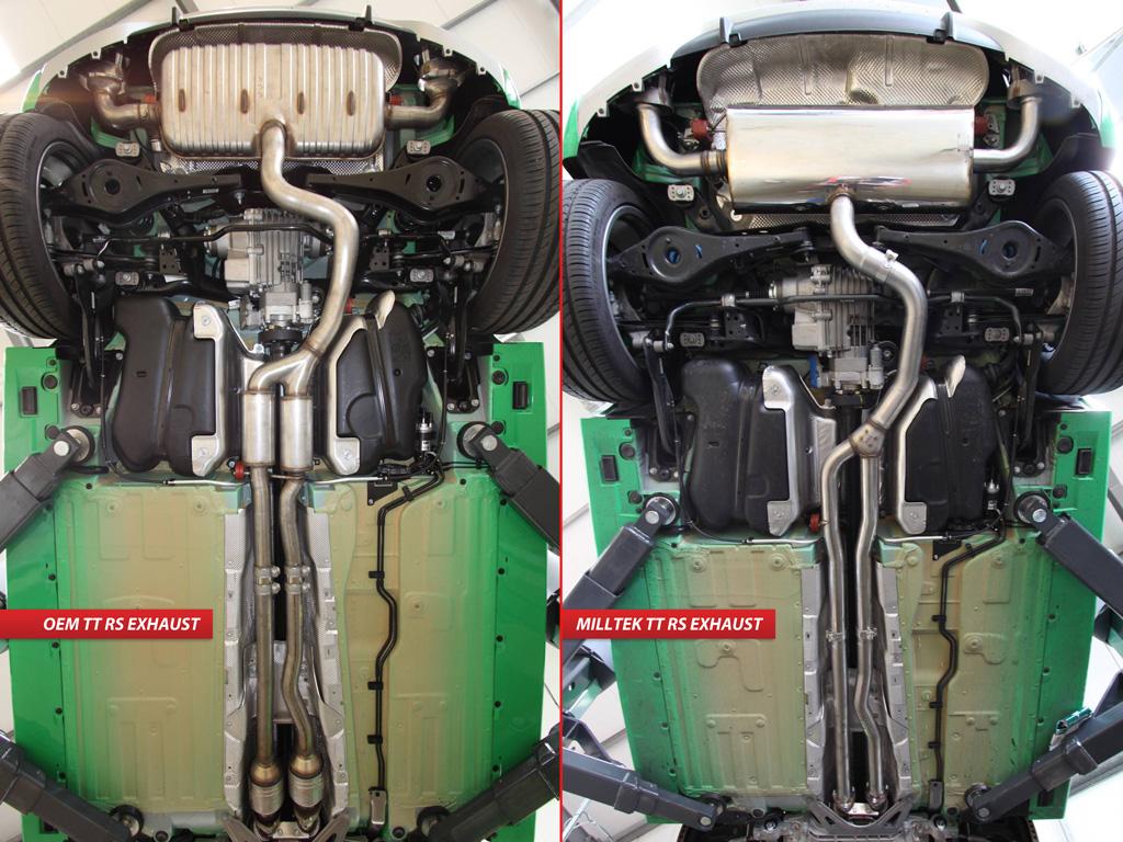 MILLTEK Cat Back Exhaust System SSXAU227 Audi TT MK2  TT RS Coupé 2.5 Litre TFSI Quattro / TT MK2  TT RS Roadster 2.5 Litre TFSI Quattro