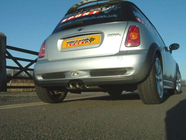 MILLTEK Cat Back Non-Resonated Exhaust System SSXM007 Mk1 MINI Cooper S (R53)