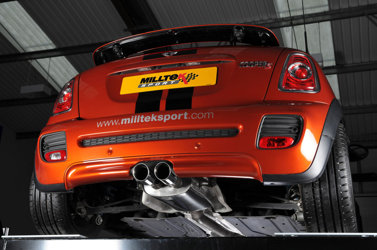 MILLTEK Cat Back Exhaust System SSXM024 Mk2 MINI Cooper S 1.6i Turbo (R56) / Mk2 MINI Cooper S Coupé (R58)