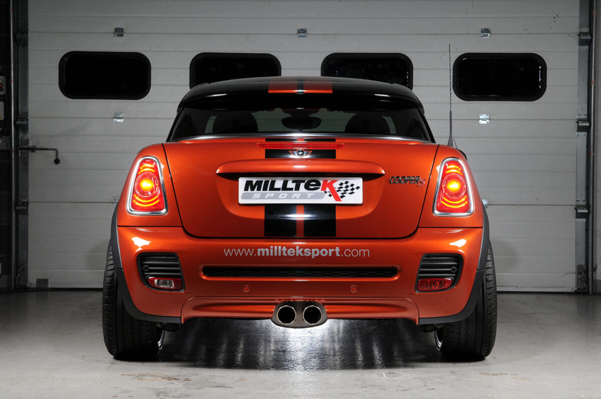 MILLTEK Cat Back Exhaust System SSXM025 Mk2 MINI Cooper S 1.6i Turbo (R56) / Mk2 MINI Cooper S Coupé (R58)