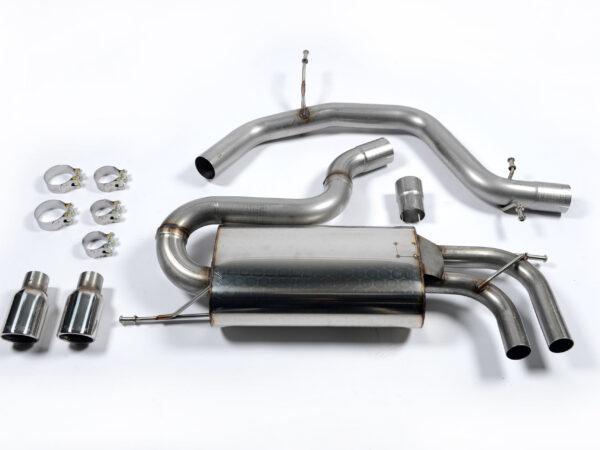 MILLTEK Cat Back Exhaust System SSXVW147 Volkswagen Golf Mk5 GTi 2.0T FSI