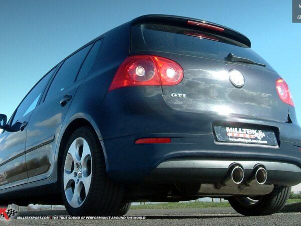 MILLTEK Cat Back Exhaust System SSXVW168 Volkswagen Golf Mk5 GTi 2.0T FSI