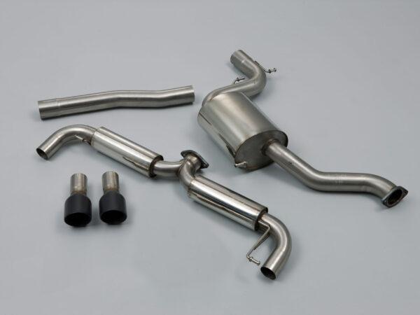MILLTEK Cat Back Exhaust System SSXVW185 Volkswagen Golf Mk6 GTi 2.0 TSI 210PS