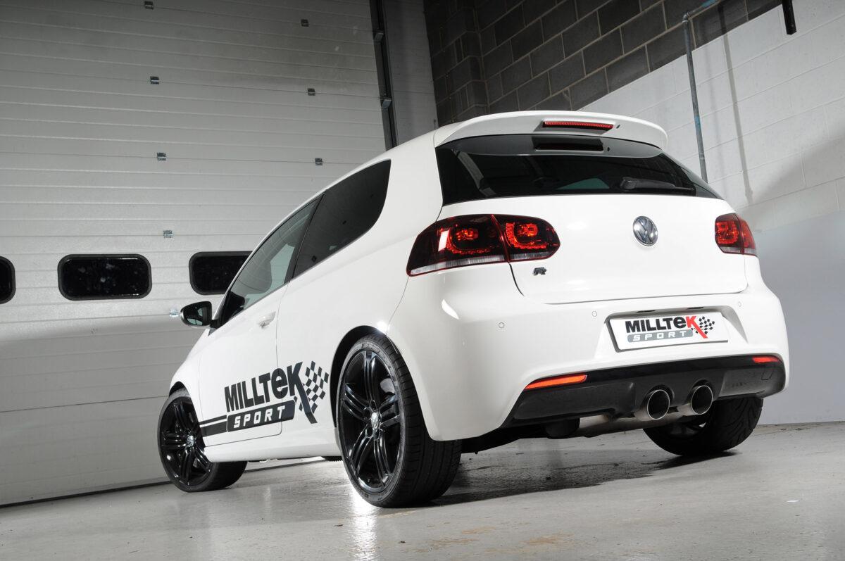 MILLTEK Cat Back Exhaust System SSXVW222 Volkswagen Golf Mk6 R 2.0 TSI 270PS