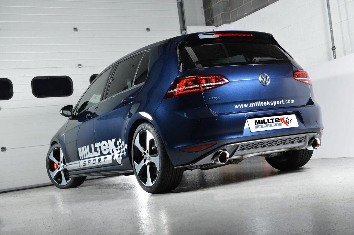 MILLTEK Cat Back Exhaust System SSXVW225 Volkswagen Golf MK7 GTi (including GTi Performance Pack models)