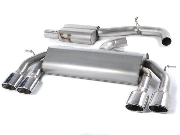 MILLTEK Cat Back Exhaust System SSXVW308 Volkswagen Golf MK7 R 2.0 TSI 300PS