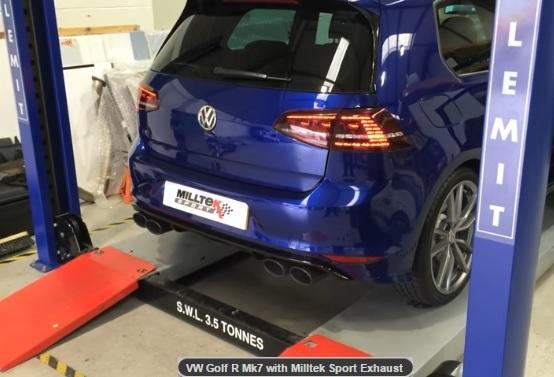 MILLTEK Cat Back Exhaust System SSXVW309 Volkswagen Golf MK7 R 2.0 TSI 300PS