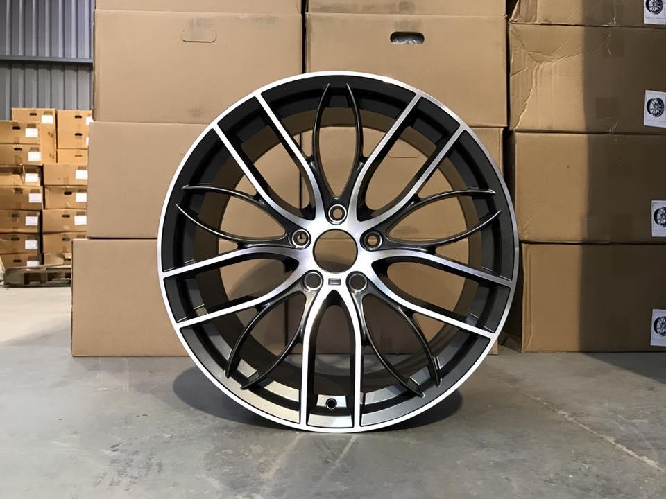 """20"""" Staggered 405M Style Wheels - Gun Metal / Machined - E90 / E91 / E92 / F10 / E46 / Z4 / F30"""