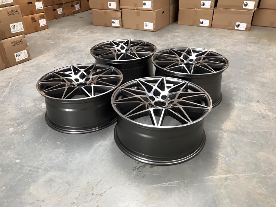 "20"" Staggered 666M Style Wheels - Gun Metal / Machined - E90 / E91 / E92 / F10 / E46 / Z4 / F30"