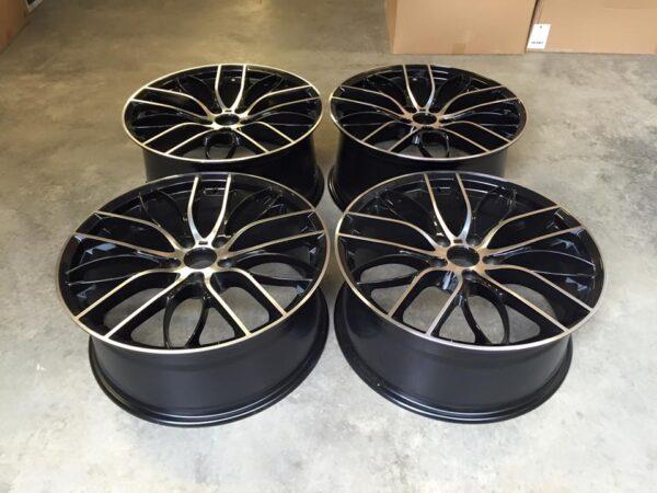 """20"""" Staggered 405M Style Wheels - Gloss Black / Machined - E90 / E91 / E92 / F10 / E46 / Z4 / F30"""