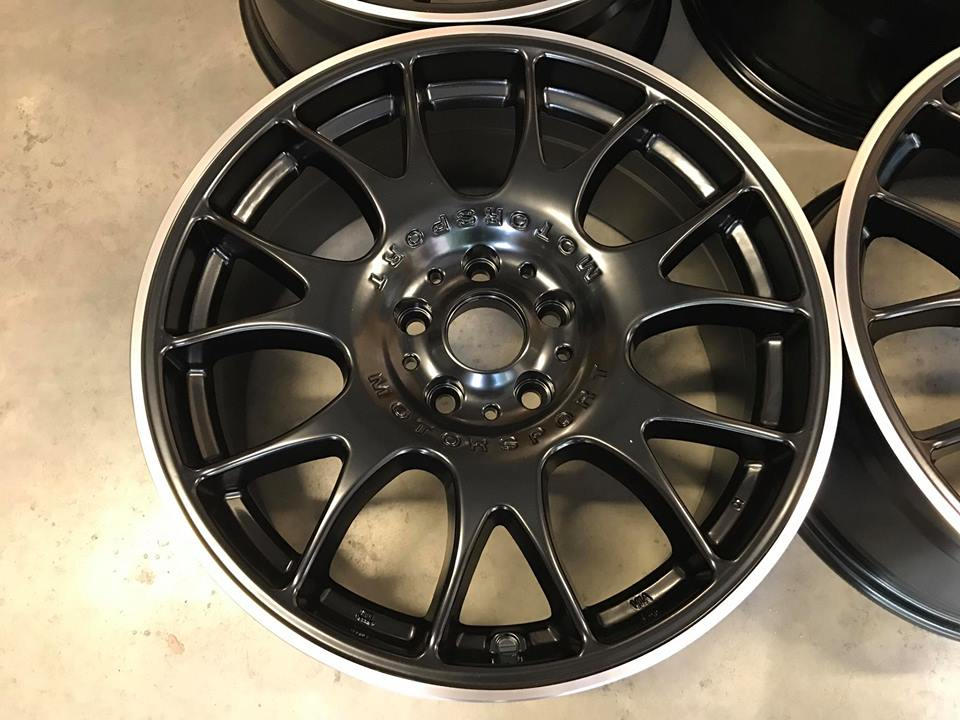 "18"" BBS CH Style Wheels - Black Machined Lip -  VW / Audi / Mercedes - 5x112"