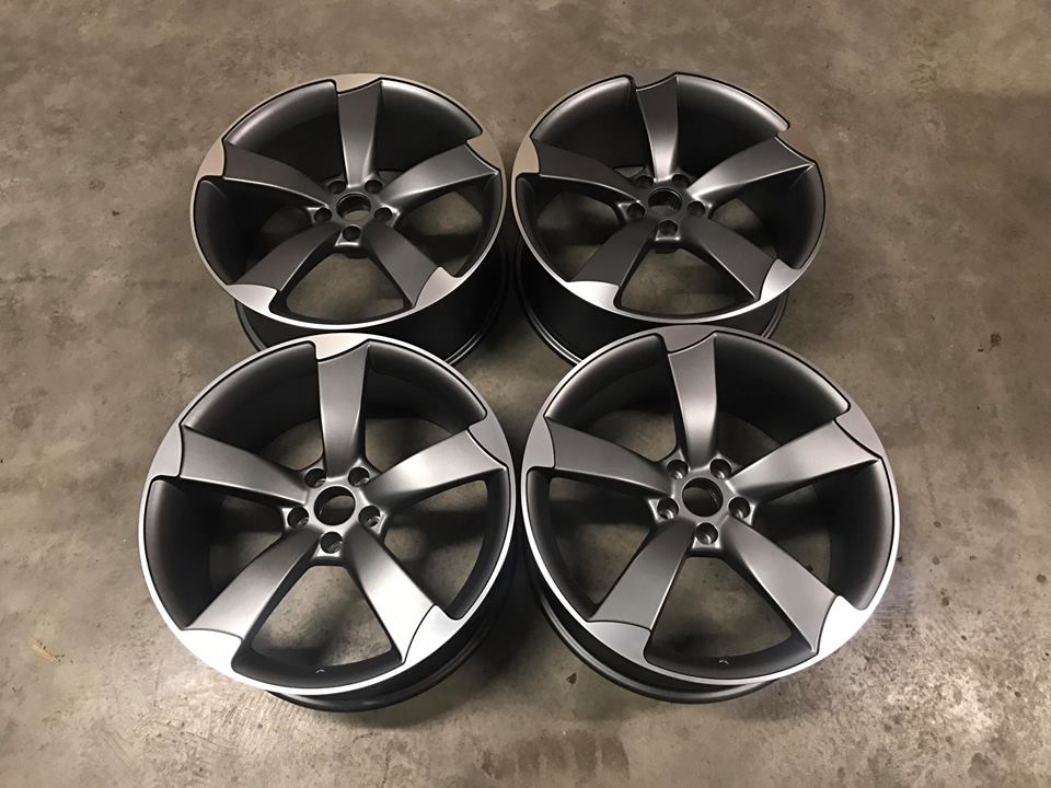 "20"" Audi TTRS Style Wheels - Satin Gun Metal / Machined - VW / Audi / Mercedes - 5x112"