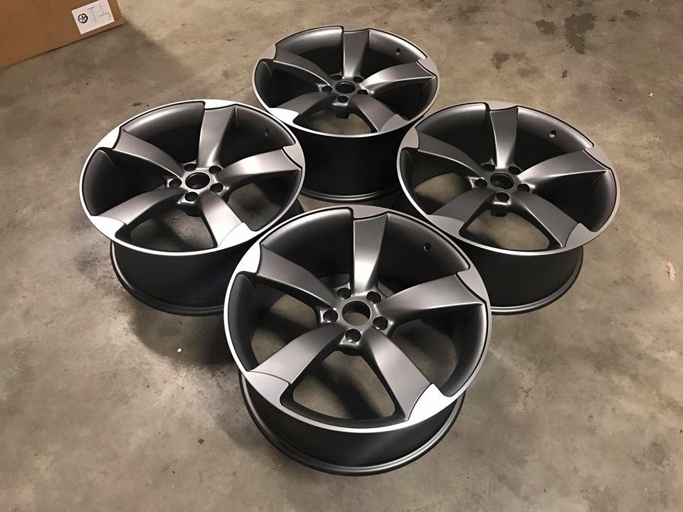 "20"" Audi TTRS Style Wheels - Satin Gun Metal / Machined - VW / Audi / Mercedes - 5x112"