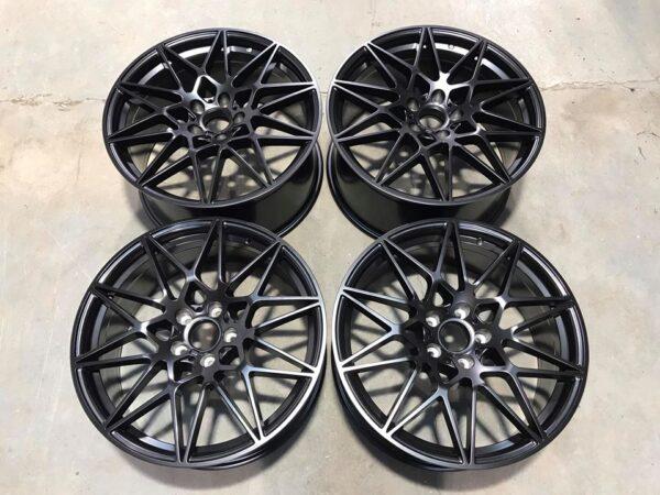 """19"""" Staggered 666M Style Wheels - Satin Black - E90 / E91 / E92 / F10 / E46 / Z4 / F30 / F32"""