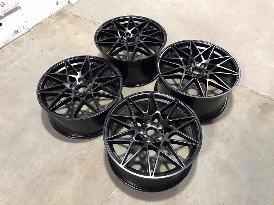 "20"" Staggered 666M Competition Style Wheels - Satin Black - E90 / E91 / E92 / F10 / E46 / Z4 / F30"