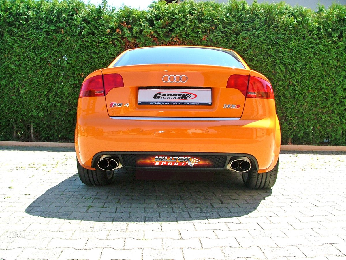 MILLTEK Cat Back Exhaust System SSXAU116 Audi RS4 B7 4.2 V8 Saloon Avant and Cabriolet