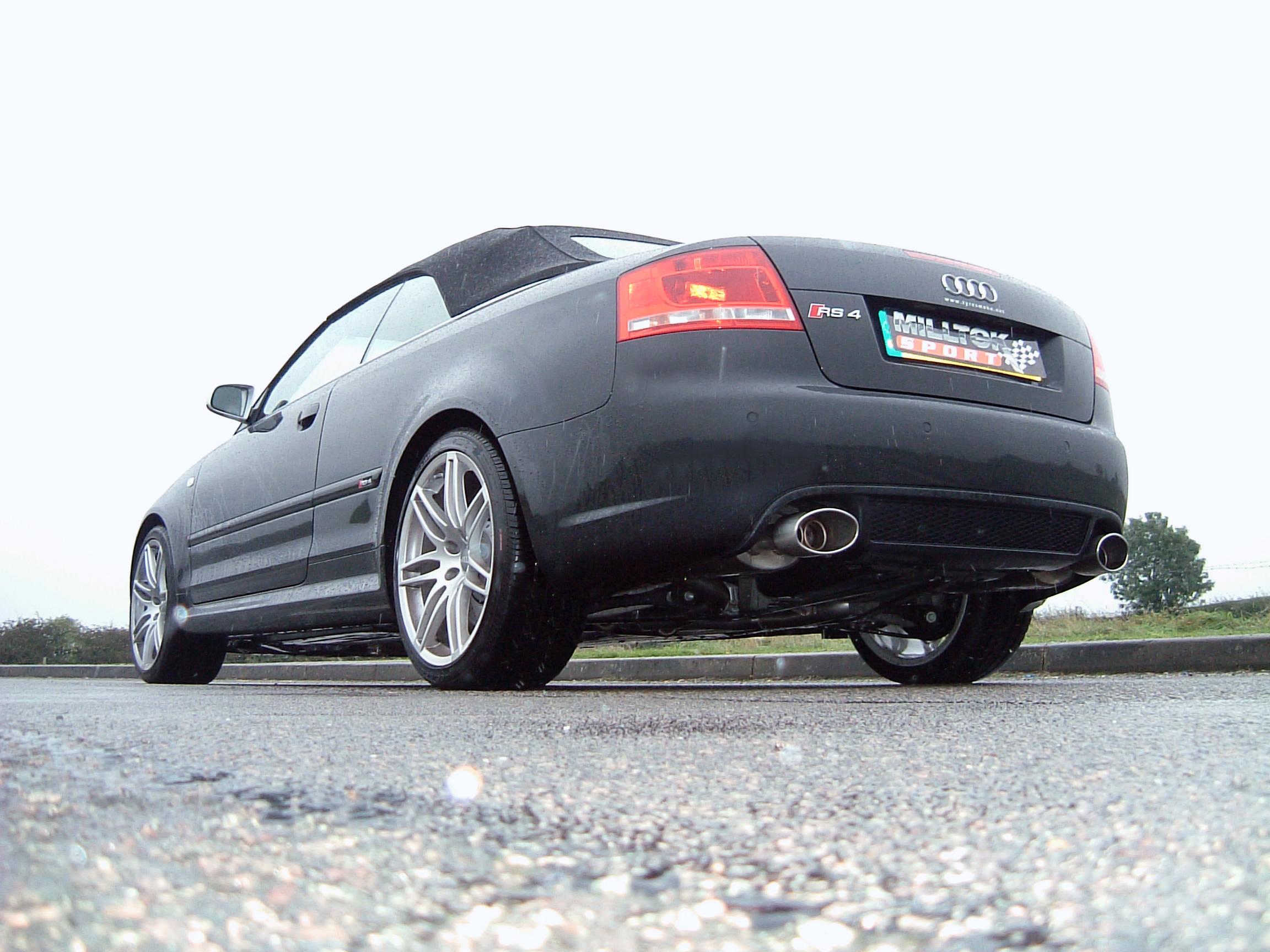 MILLTEK Cat Back Exhaust System SSXAU116 Audi RS4 B7 4.2 V8 Saloon Avant and Cabriolet