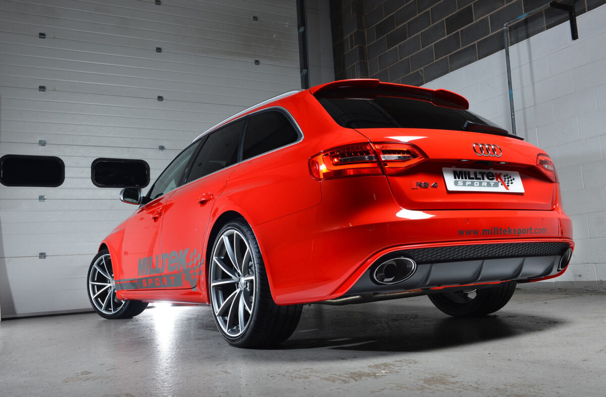 MILLTEK Cat Back Exhaust System SSXAU337 Audi RS4 B7 4.2 V8 Saloon Avant and Cabriolet