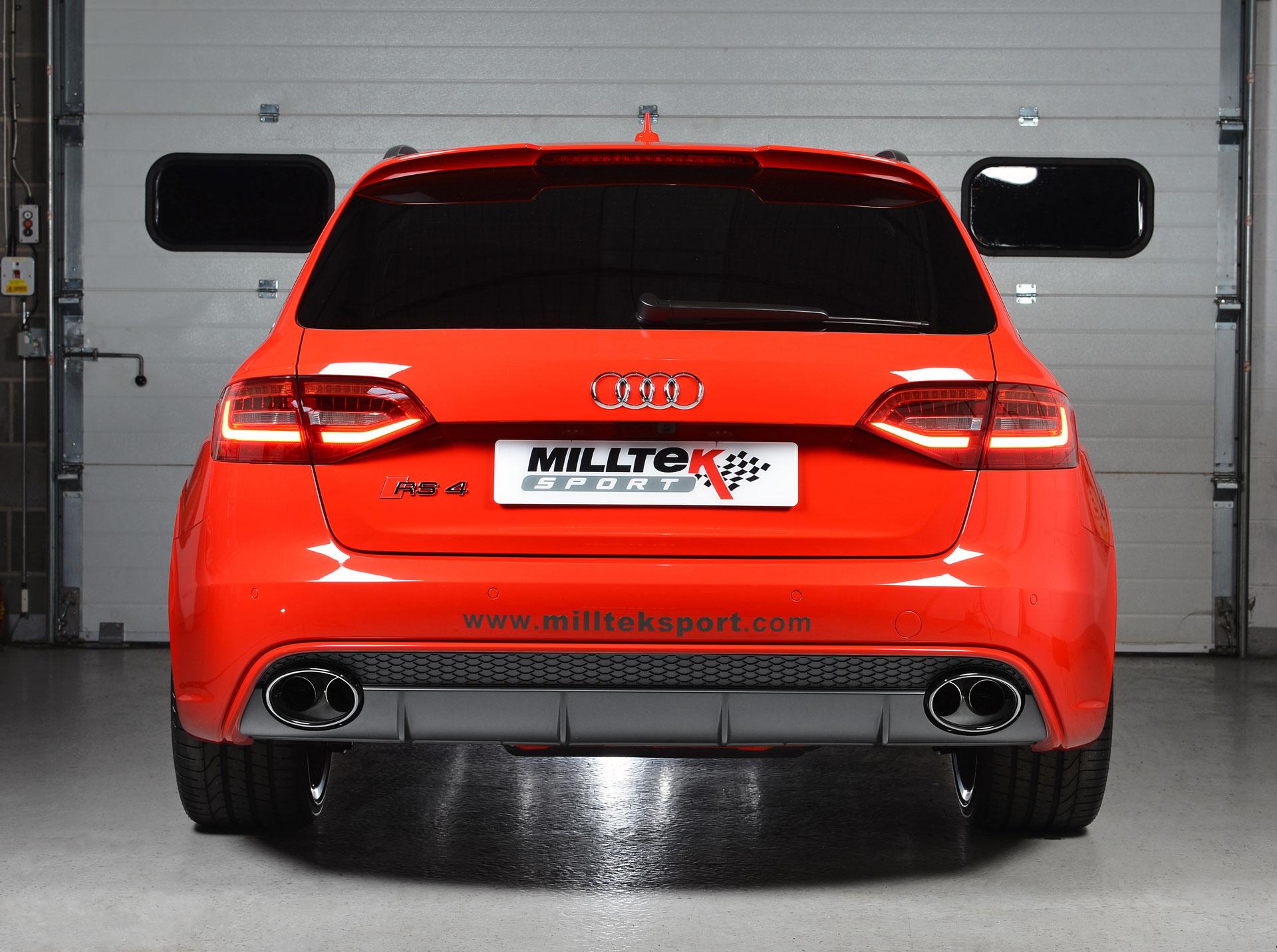 MILLTEK Cat Back Exhaust System SSXAU337 Audi RS4 B7 4.2 V8 Saloon Avant and Cabriolet