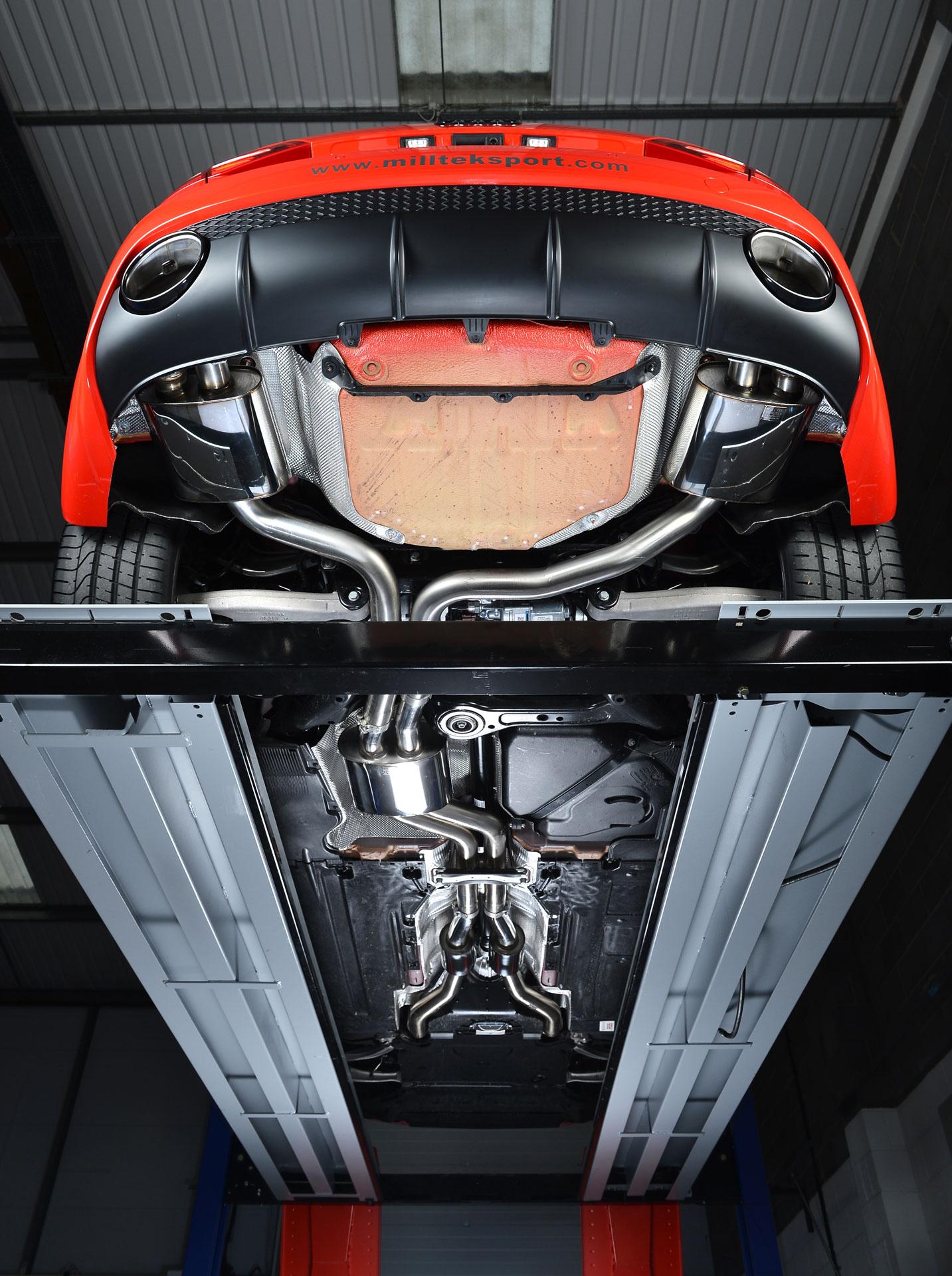 Milltek Cat Back Exhaust System Ssxau337 Audi Rs4 B7 4 2 V8 Saloon Avant And Cabriolet Cmwheels