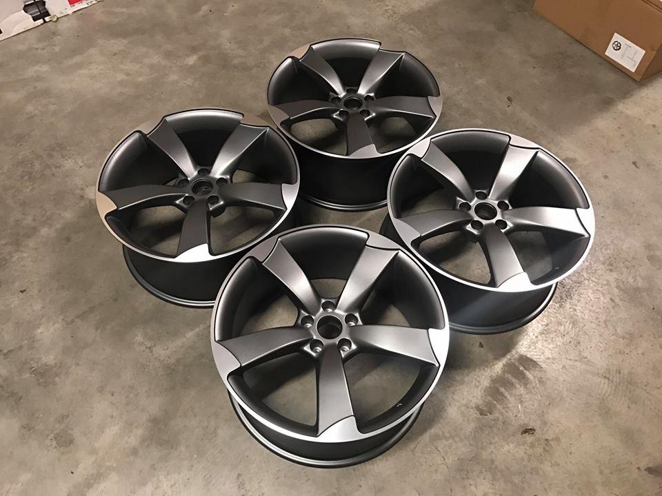 "19"" Audi TTRS Style Wheels - Satin Gun Metal / Machined - VW / Audi / Mercedes - 5x112"