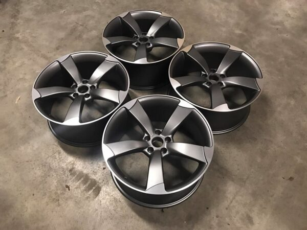 "19"" Audi TTRS Style Wheels - Satin Gun Metal / Machined - VW / Audi / Mercedes - 5x112"