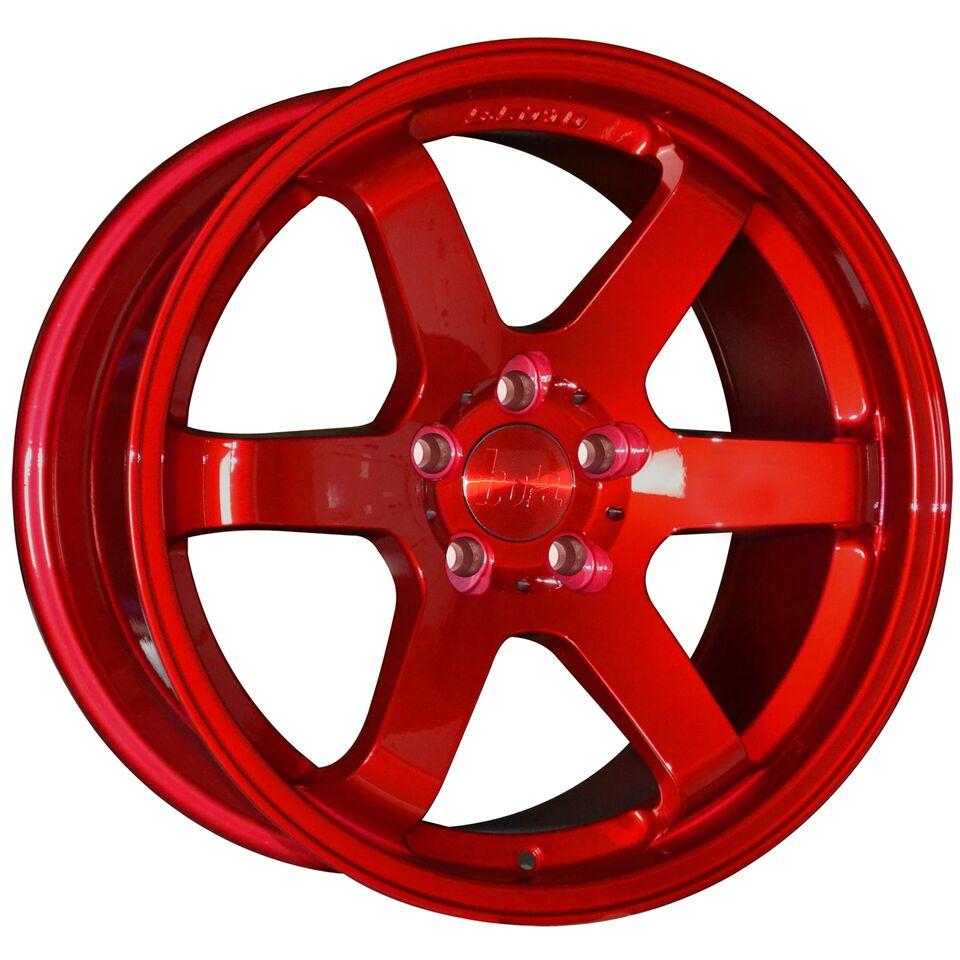 "18"" BOLA B1 Wheels - Candy Red - VW / Audi / Mercedes - 5x112"