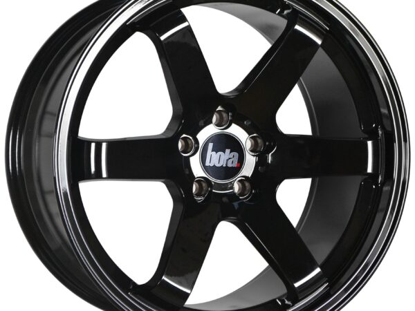"18"" BOLA B1 Wheels - Gloss Black - VW / Audi / Mercedes - 5x112"