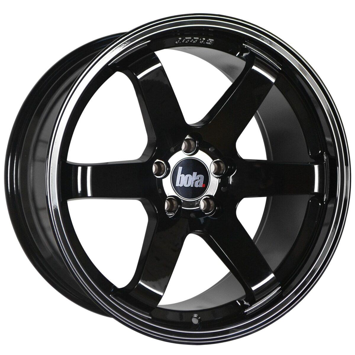"18"" BOLA B1 Wheels - Gloss Black - VW / Audi / Mercedes - 5x112"