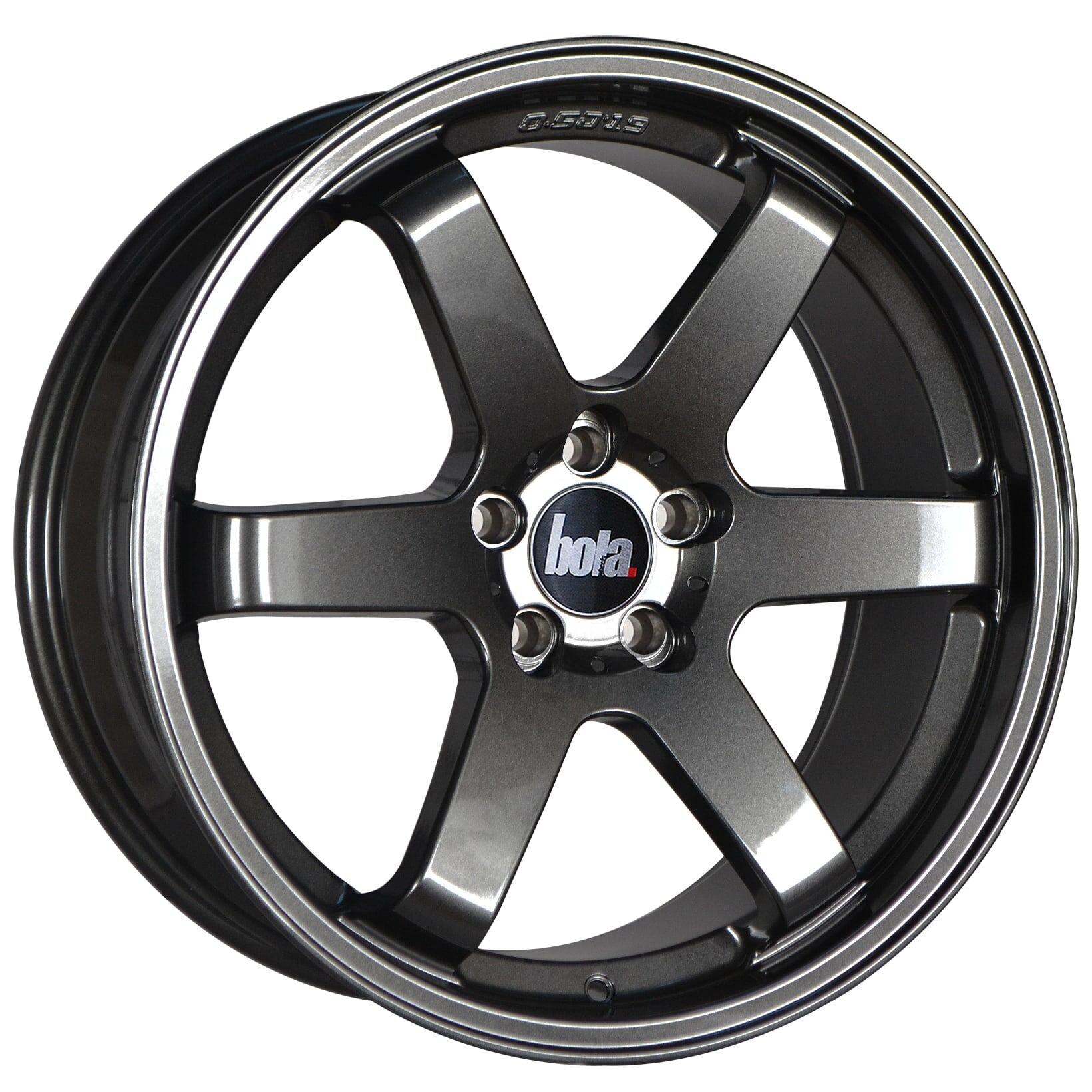 "18"" BOLA B1 Wheels - Gloss Gunmetal - VW / Audi / Mercedes - 5x112"