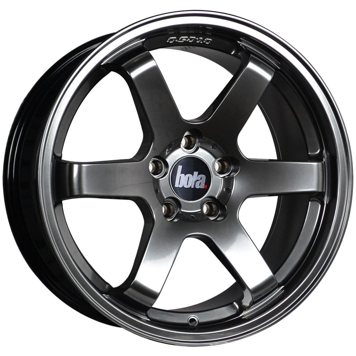 """18"""" BOLA B1 Wheels - Hyper Black - VW / Audi / Mercedes - 5x112"""