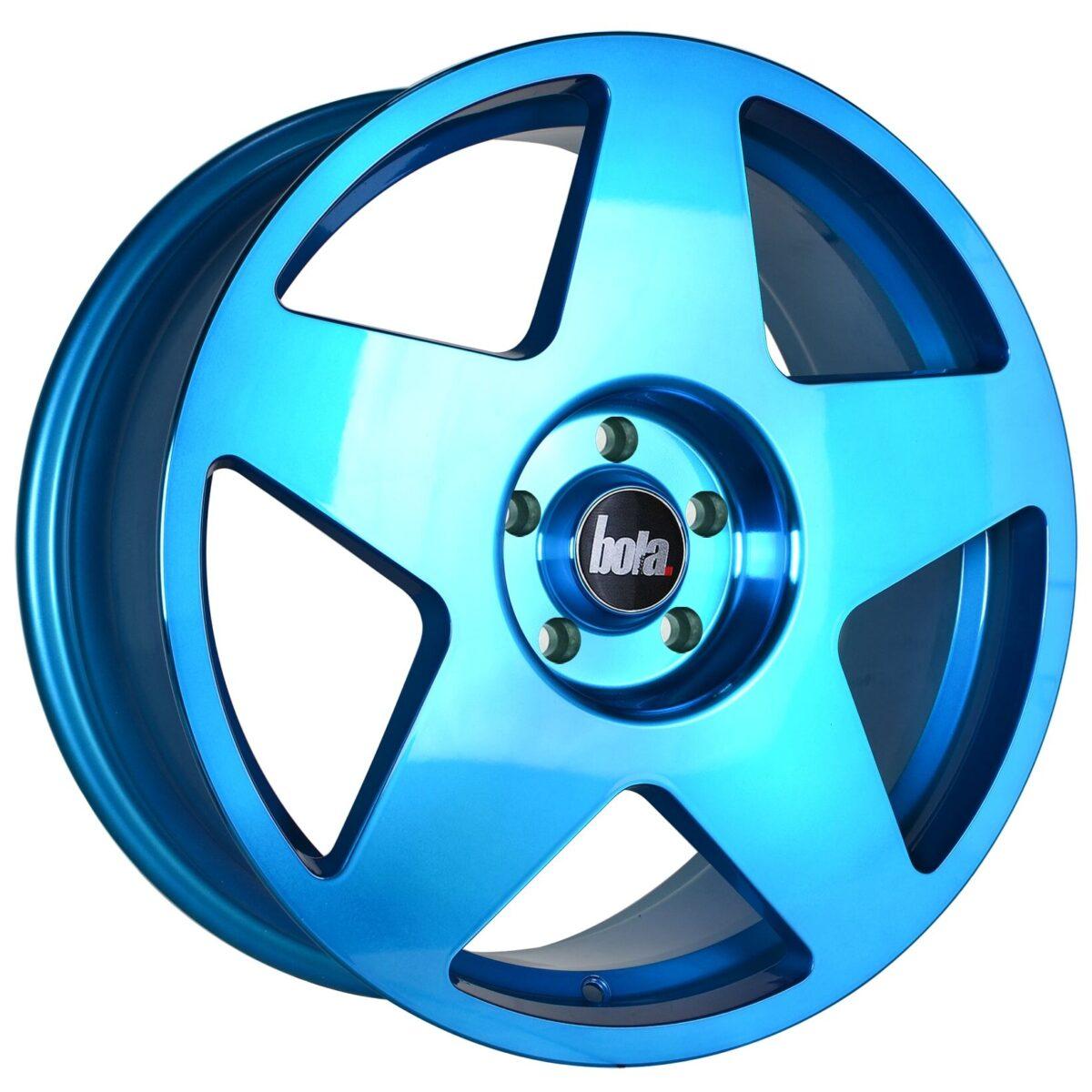 "19"" BOLA B10 Wheels - Hyper Blue - VW / Audi / Mercedes - 5x112"