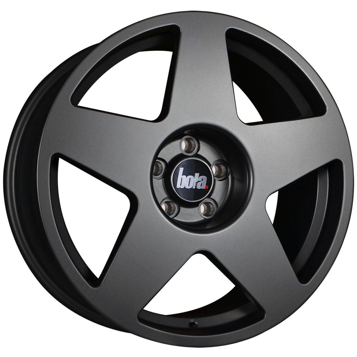 "19"" BOLA B10 Wheels - Matt Gunmetal - VW / Audi / Mercedes - 5x112"