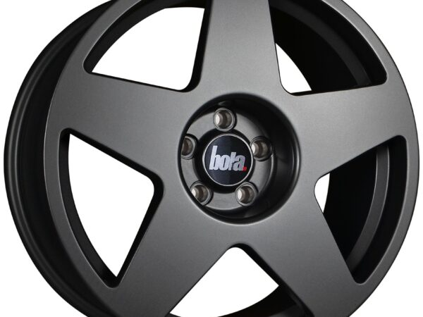 "18"" BOLA B10 Wheels - Matt Gunmetal - VW / Audi / Mercedes - 5x112"