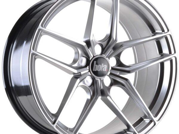 """19"""" BOLA B11 Wheels - Hyper Silver - VW / Audi / Mercedes - 5x112"""
