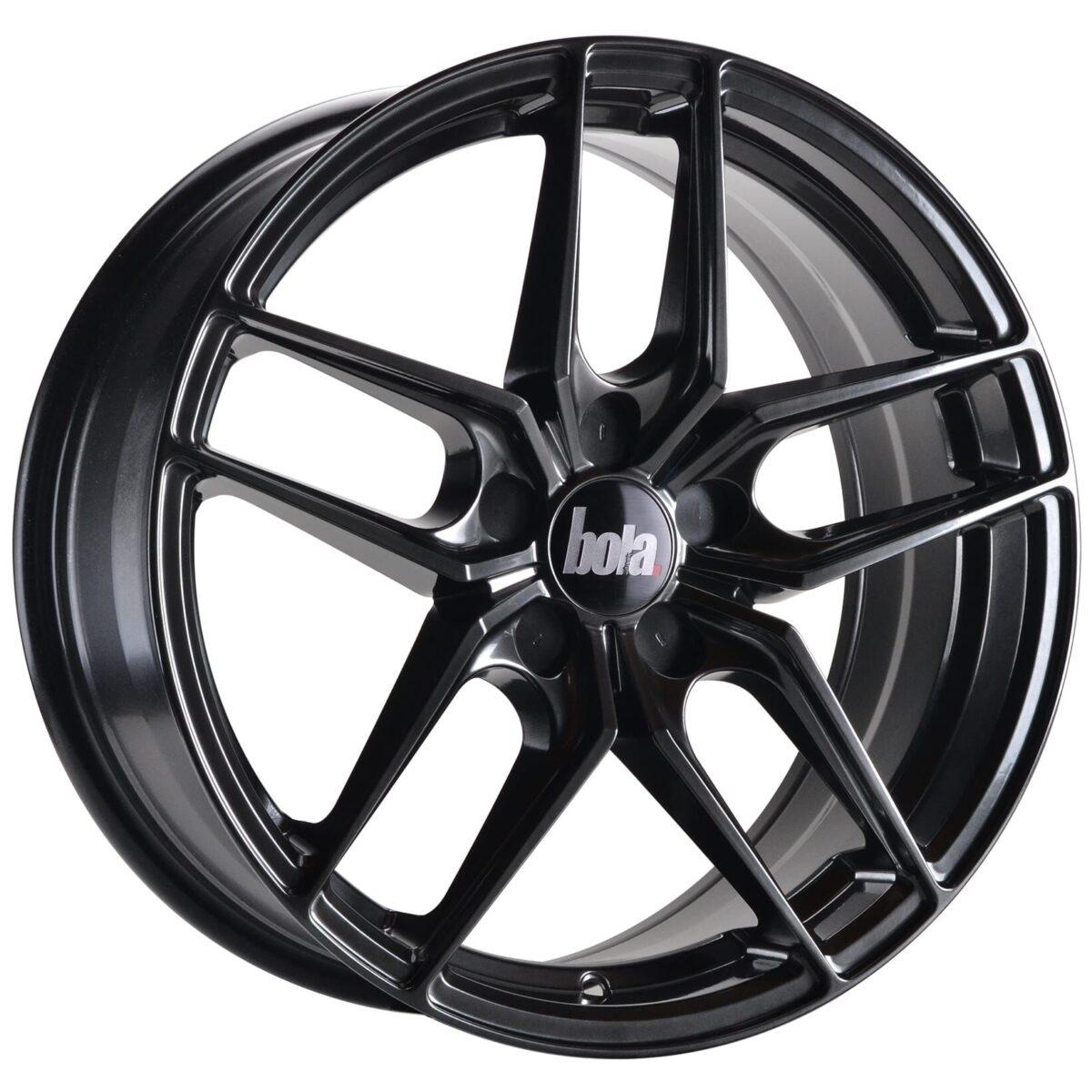 """18"""" BOLA B11 Wheels - Hyper Black - VW / Audi / Mercedes - 5x112"""