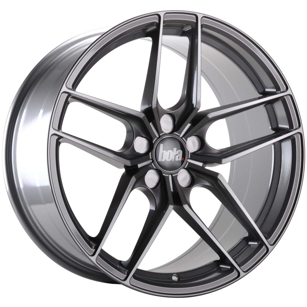 "19"" BOLA B11 Wheels - Light Gunmetal - VW / Audi / Mercedes - 5x112"
