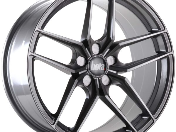"19"" BOLA B11 Wheels - Light Gunmetal - VW / Audi / Mercedes - 5x112"