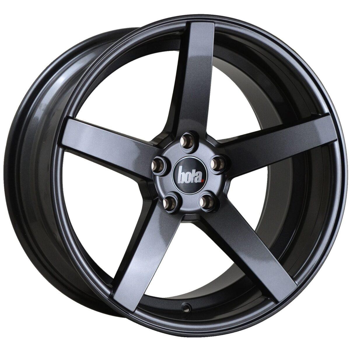 "18"" BOLA B2 Wheels - Gloss Gunmetal - VW / Audi / Mercedes - 5x112"