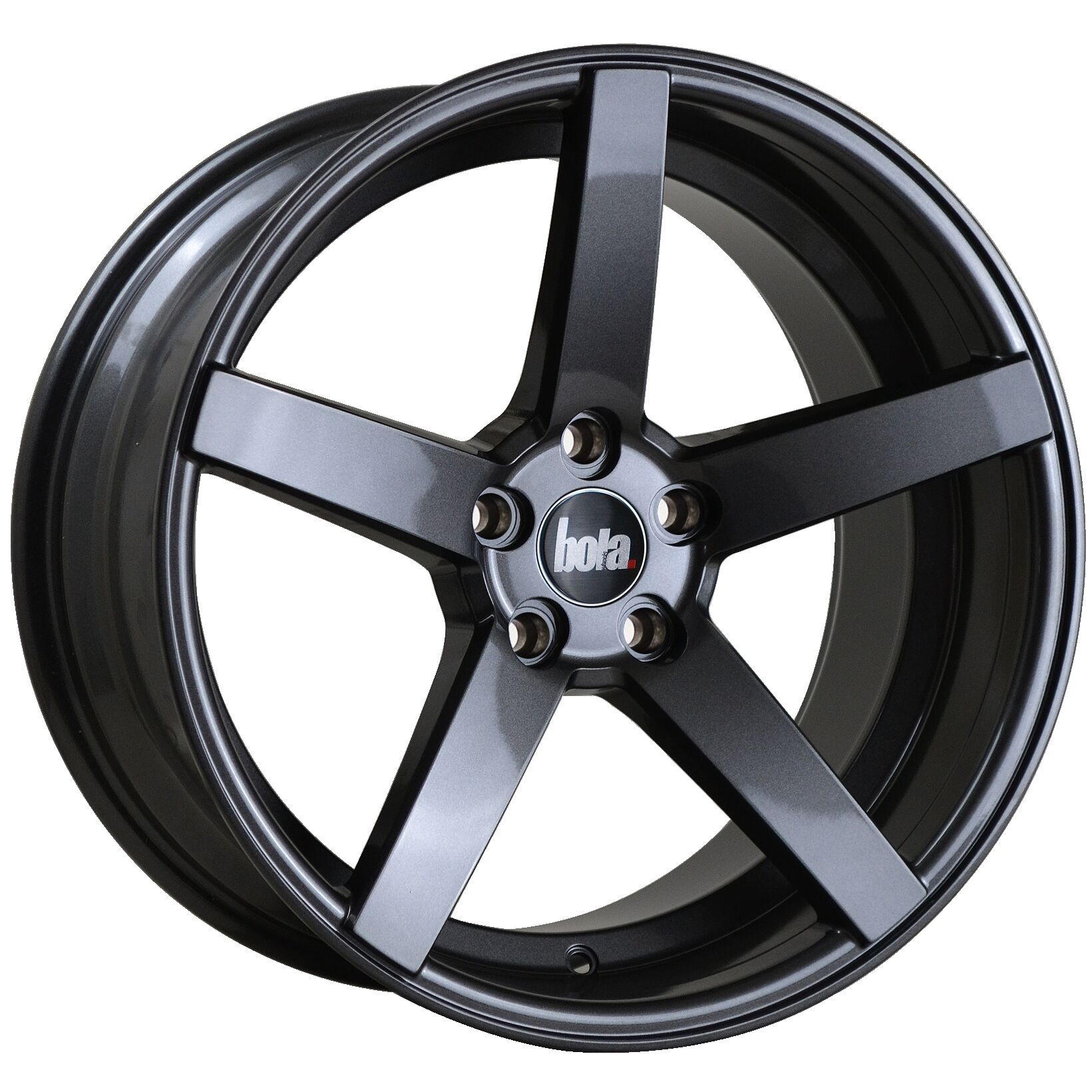 "18"" BOLA B2 Wheels - Gloss Gunmetal - VW / Audi / Mercedes - 5x112"