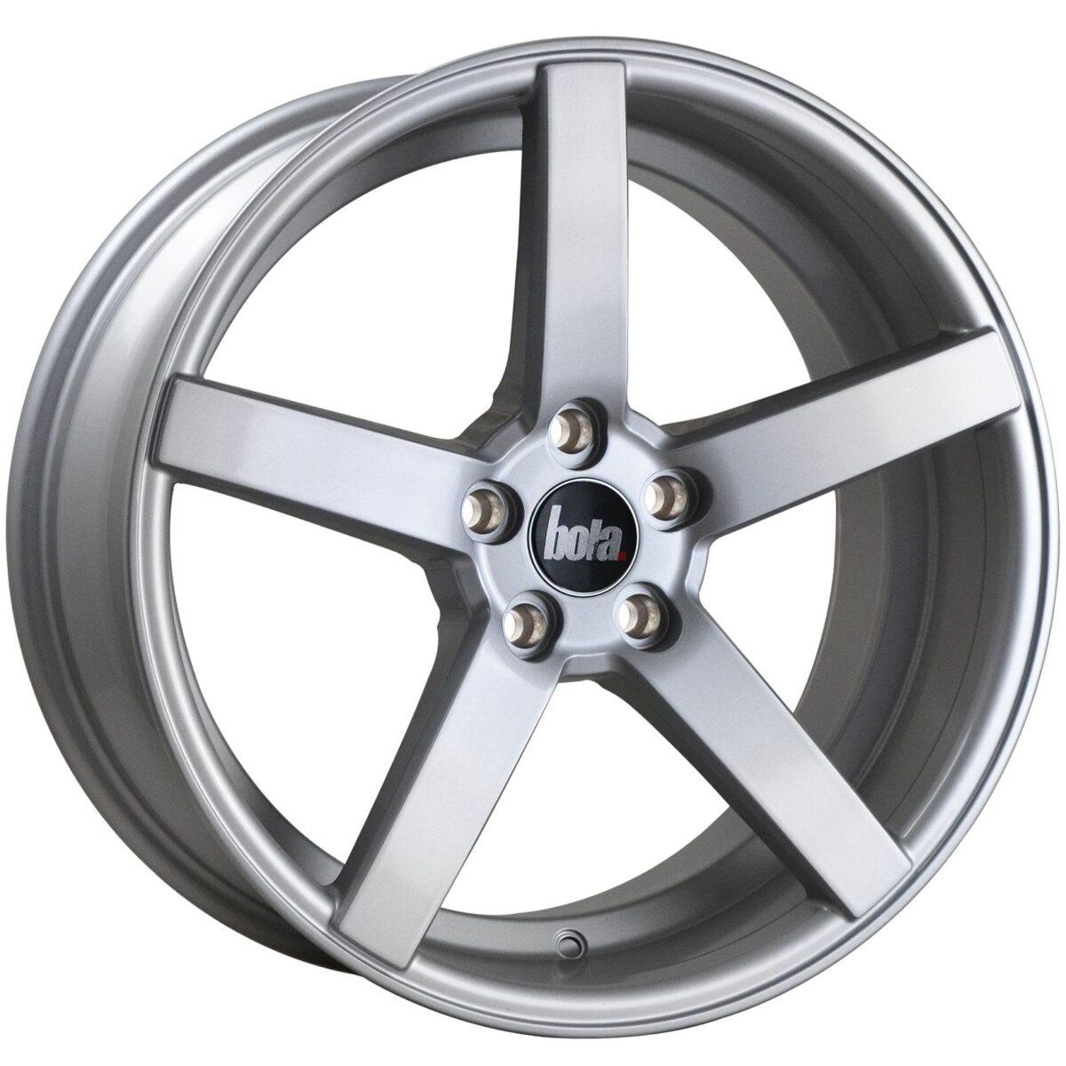 """18"""" BOLA B2 Wheels - Silver - VW / Audi / Mercedes - 5x112"""