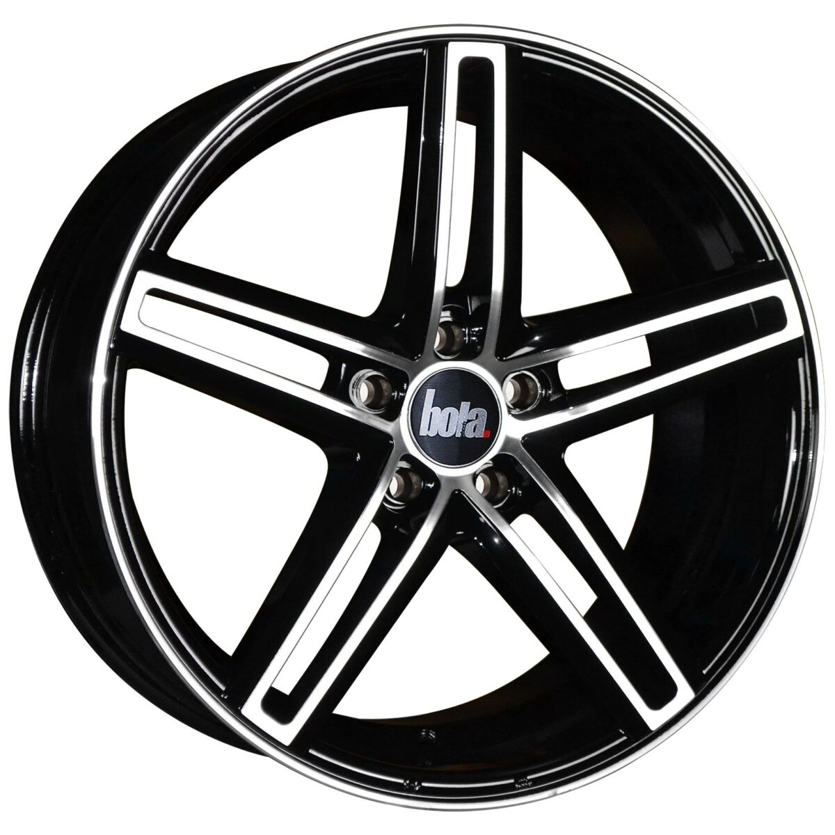 "19"" BOLA B3 Wheels - Gloss Black Polished Face - VW / Audi / Mercedes - 5x112"