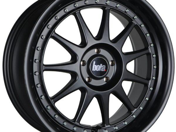 "18"" BOLA B4 Wheels - Matt Black with Silver Rivets - All BMW Models"