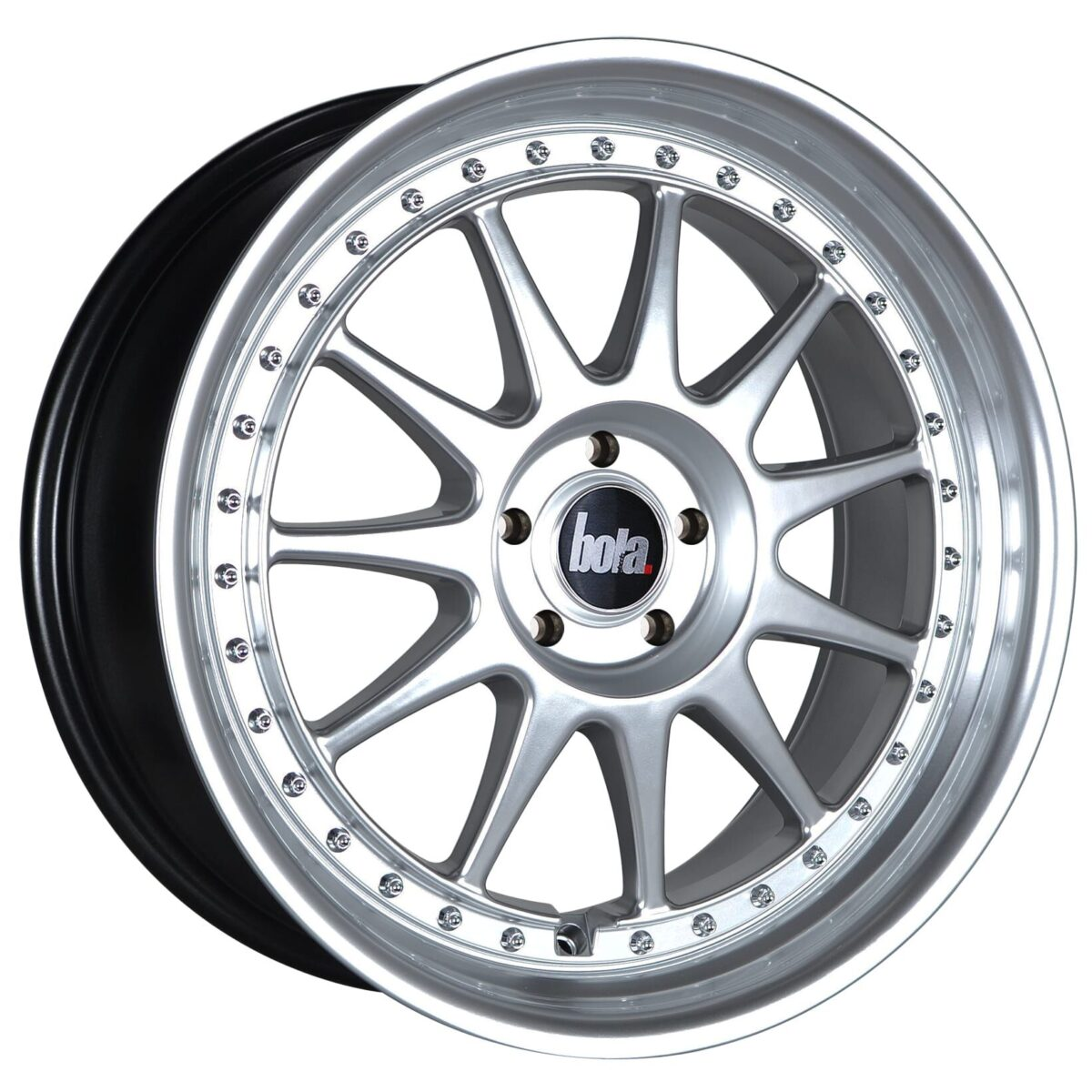 "18"" BOLA B4 Wheels - Hyper Silver with Silver Rivets - All BMW Models"