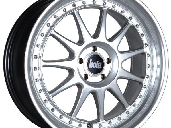 "18"" BOLA B4 Wheels - Hyper Silver with Silver Rivets - All BMW Models"